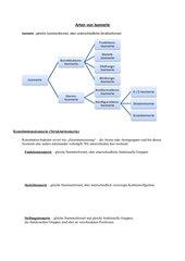 Arten von Isomerien