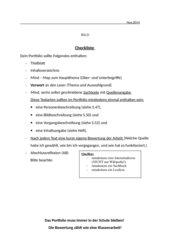 Checkliste für ein Portfolio