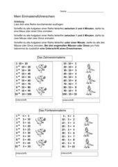 Einmaleinsführerschein DIN A4 Geheft