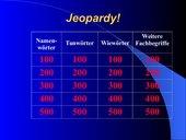 Jeopardy mit grammatischen Begriffen