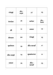 Zahlendomino nombres Domino 1-20