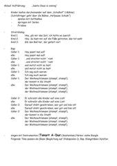 kleine szenische/musikalische Aufführung