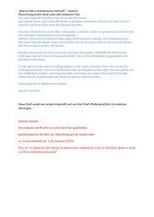 Brief an Eltern nichtdeutscher Herkunft - Arabisch
