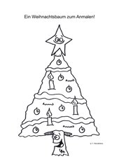 Weihnachtsbaum Malvorlage