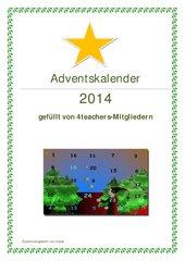 Adventskalender 2014 - Zusammenstellung Teil 1