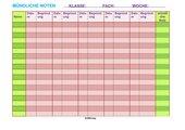 Blanko Tab. mündliche Noten Liste