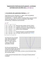 Lehrgang quadratische Funktionen