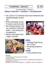 Textile Gestaltung: FILZEN - OSTEREIER