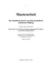 Das Schulbuch MusiX aus Sicht aesthetischer Bildung