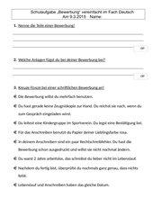 Schulaufgabe Thema Bewerbung (mit vereinfachter Version)
