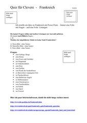 WZG Klasse 7 Frankreich Quiz mit powerpoint erstellen