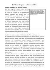 Wiener Kongress  Partner-Aufgabe