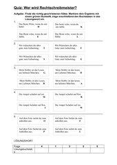 Quiz zur Nominalisierung von Adjektiven / Verben