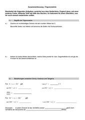 Zusammenfassung Trigonometrie - von SuS selbst auszufüllen