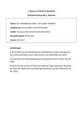 Klausur Q1 Geschichte GK