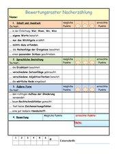 Nacherzählung Bewertungsraster ab Klasse 4