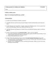 Klassenarbeit Balladen Kl 7