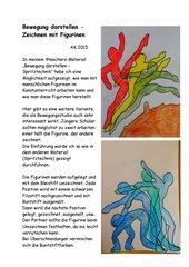 Bewegung darstellen  -  Zeichnen mit Figurinen