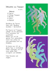 Bewegung darstellen  -  Silhouetten aus Tonpapier