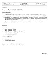 Klausur, Erdkunde, Q1, NRW, Thema: Stadtgeographie