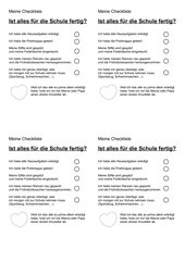 Checkliste - Ist alles für die Schule fertig?