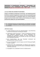Geplantes Unterrichtsvorhaben zu Christian Boltanski (Kunst Q1/2)