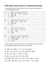 Rationale Zahlen - Terme vereinfachen