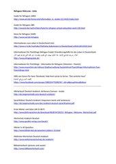 Linkliste für Flüchtlinge (AR)