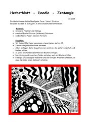 Herbstblatt  -  Doodle  - Zentangle