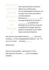 Moderationstext Modenschau