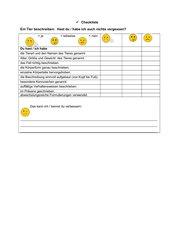 Checkliste Tierbeschreibung