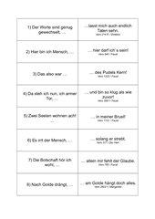 Zitate-Zuorndungsspiel zu Goethes