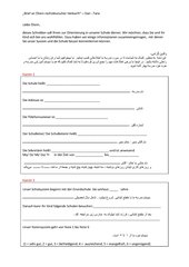 Brief an Eltern nichtdeutscher Herkunft – Farsi/Dari