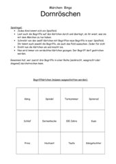 Märchen- Bingo