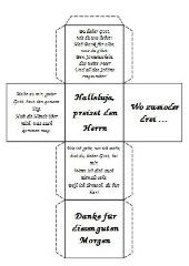 Lieder- und Gebetswürfel - Religion