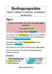 merkblatt if stze typ 1 - If Satze Beispiele