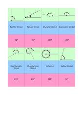 Winkel- Zuordnungsspiel
