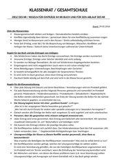 Klassenrat / Regeln und Protokollbogen