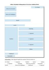 Deutsch Arbeitsmaterialien Formaler Briefgeschäftsbrief