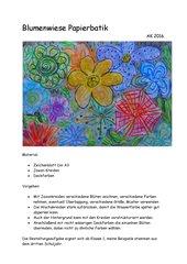 Blumenwiese Papierbatik