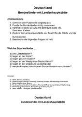 Puzzle Deutschland und seine Bundesländer