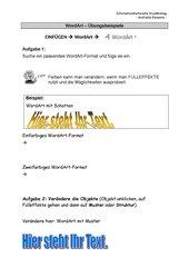 WordArt - Einfügen und Fülleffekte
