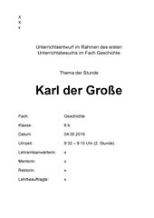 UR-Entwurf: Stationenarbeit - Karl der Große