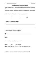 Fragebogen zum Ende der Einheit