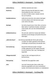 Hitlers Weltbild (Ideologie) - Fachbegriffe