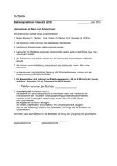 Berufspraktikum Betriebspraktikum Elternbrief Klasse 8-13