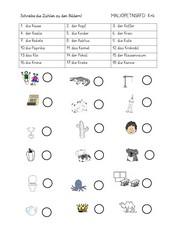 Alphabetisierung - Arbeitsblätter, Teil 3