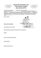 Steckbrief der Olympischen Sportarten
