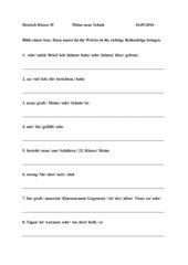 neue Schulwörter Sätze bilden