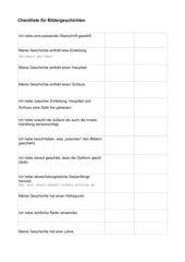 Checkliste für Bildergeschichten